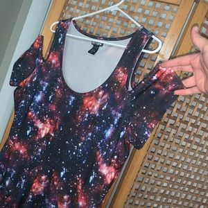 Cute galaxy skater Hot Topic dress XXL